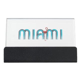 CAMISETA Miami Caja De Tarjetas De Visita Para Escritorio