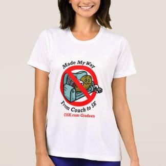 Camiseta micro de la fibra del graduado de las