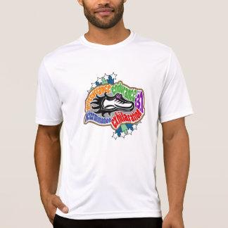 Camiseta micro de la fibra del medio maratón - playeras