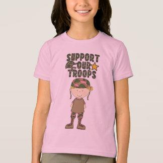 Camiseta militar de la juventud del soldado de polera