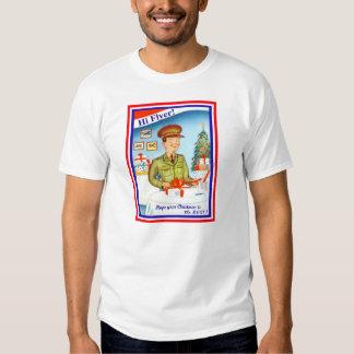 Camiseta militar del navidad de la fuerza aérea remera