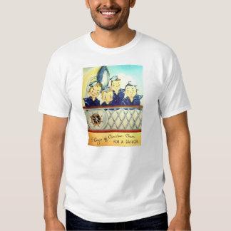 Camiseta militar del navidad de la marina de remeras