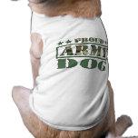 Camiseta militar orgullosa del perro camisa de perrito