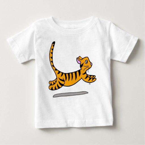 Camiseta minúscula del gato de tigre polera