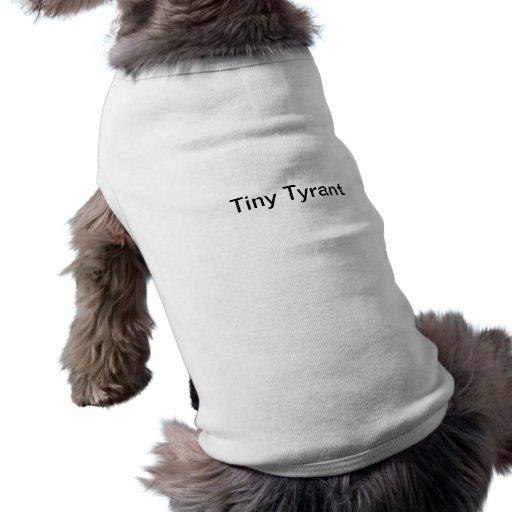 Camiseta minúscula del perro del tirano camisetas de perrito