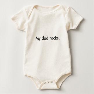 """Camiseta, """"mis rocas del papá. """" traje de bebé"""