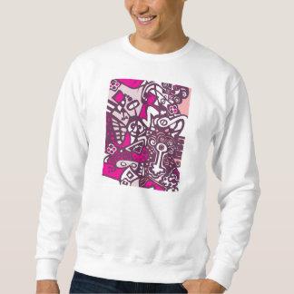 Camiseta mística rosada el   del arte abstracto sudadera