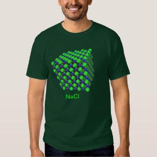 Camiseta modelo molecular del cloruro sódico poleras