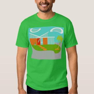 Camiseta moderna de la casa del dibujo animado de polera