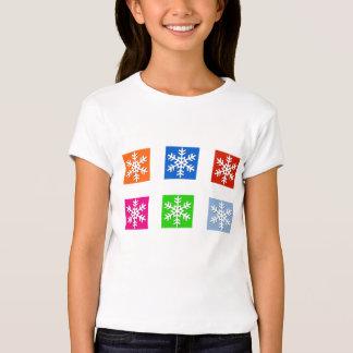 Camiseta moderna del día de fiesta del copo de playera