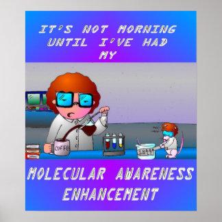 Camiseta molecular del aumento de la conciencia posters