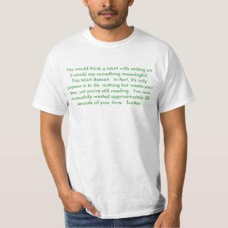 Camiseta molesta