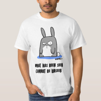 Camiseta molestada del conejito polera