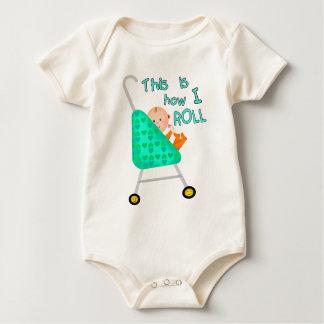 Camiseta/mono divertidos del bebé enterito