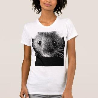 Camiseta monocromática del arte pop del ratón poleras