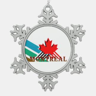 CAMISETA Montreal Adorno De Peltre En Forma De Copo De Nieve