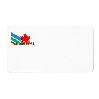 CAMISETA Montreal Etiquetas De Envío