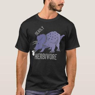 Camiseta MORTAL del Triceratops del HERBÍVORO