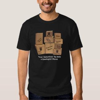 Camiseta móvil del humor del geólogo polera