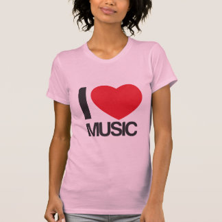 camiseta mujer I love music rosa T Shirts