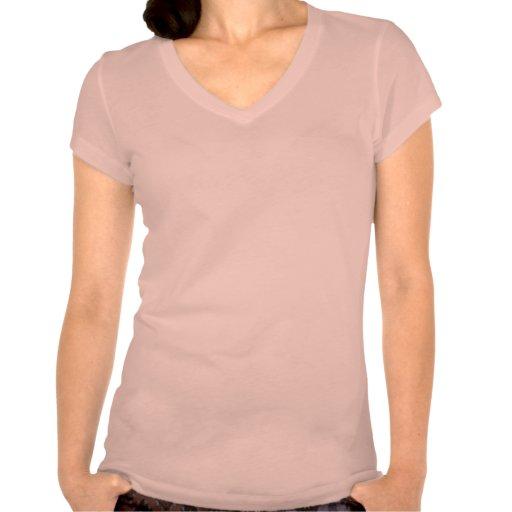 Camiseta, mujeres con cuello de pico