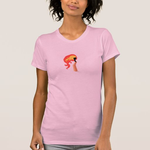 camiseta, mujeres del partido, rosa, fuego
