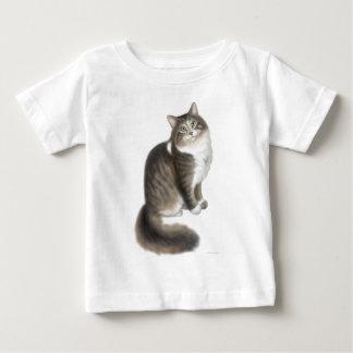 Camiseta mullida del niño del gato de Duffy Playera Para Bebé