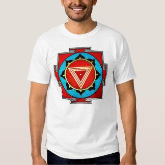 Camiseta multicolora blanca de Kali Yantra Poleras