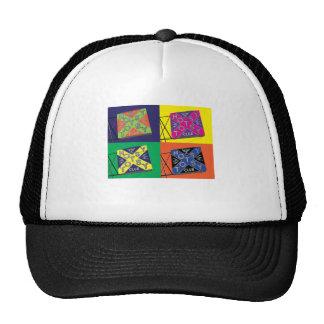 Camiseta multicolora de la señal de neón de HOTSY Gorros Bordados