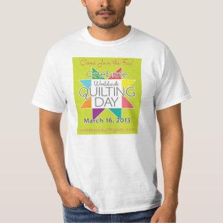 Camiseta mundial del día que acolcha