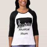 Camiseta musical de la mamá