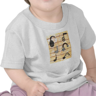 Camiseta musical del niño del auricular