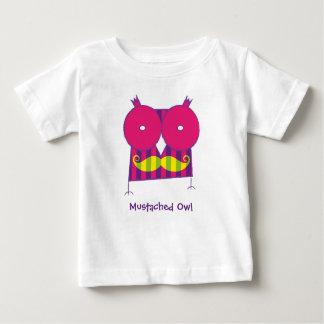 Camiseta Mustached personalizada del búho Playeras