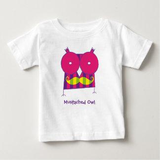 Camiseta Mustached personalizada del búho Remera