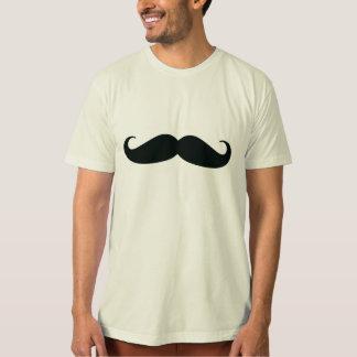 Camiseta natural orgánica del bigote de los playera