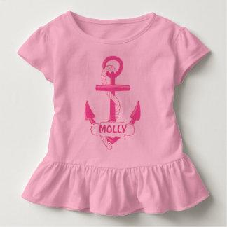 Camiseta náutica de encargo del volante del niño playeras
