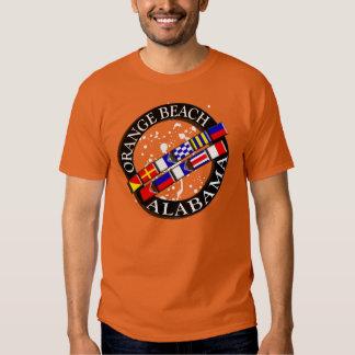 Camiseta náutica de la playa anaranjada playera