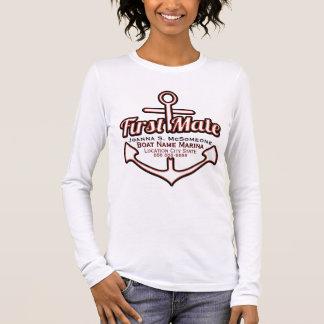 Camiseta náutica personalizada del ancla del