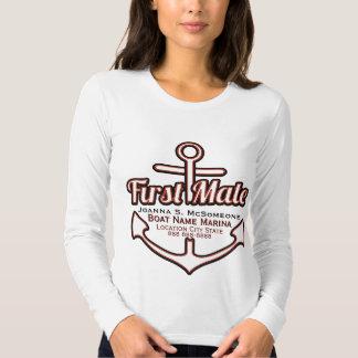 Camiseta náutica personalizada del ancla del playeras