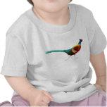 Camiseta Necked del niño del faisán del anillo