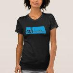Camiseta negativa del logotipo