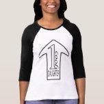 Camiseta negra/blanca de 1 hija fresca del raglán