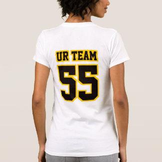 Camiseta NEGRA BLANCA lateral de American Apparel Camisas