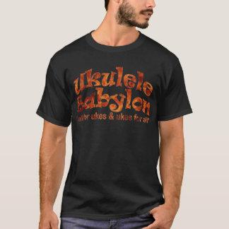 Camiseta negra de Babilonia del Ukulele