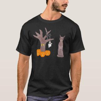 Camiseta negra de Brown del Pinscher del Doberman