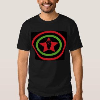Camiseta negra de capitán América Polera