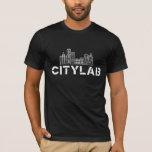 Camiseta negra de CityLab con el diseño blanco del