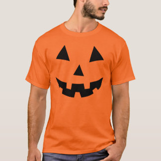 Camiseta negra de Halloween de la cara de la