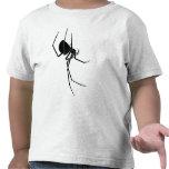 Camiseta negra de la araña