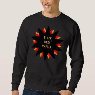 Camiseta negra de la materia de las vidas pulóver sudadera